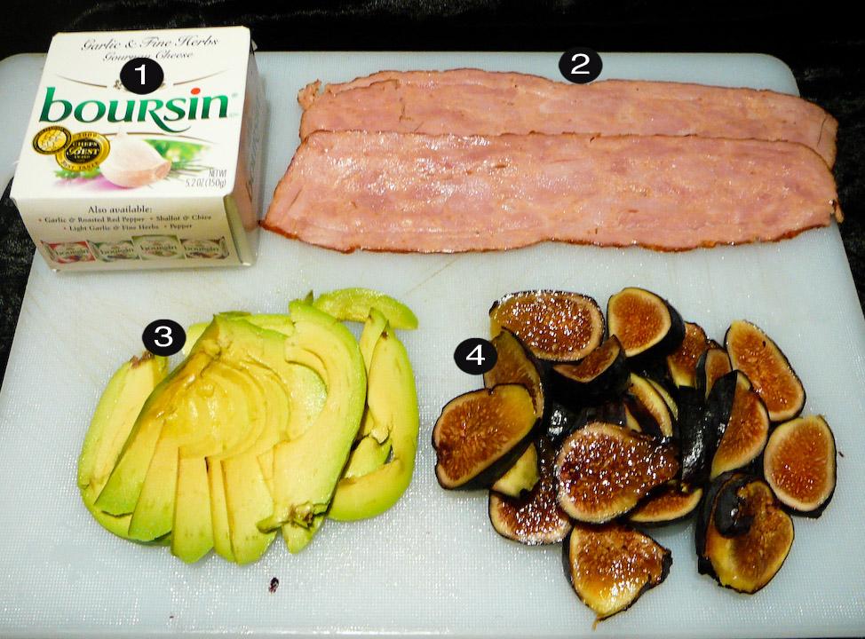 fig avocado bacon prep