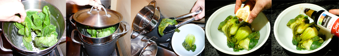 steamed bok choy make
