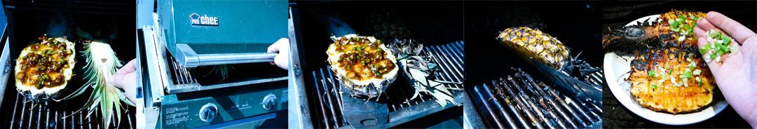 bbq pineapple split grill