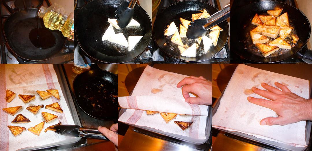 menage a tofu triangles fry