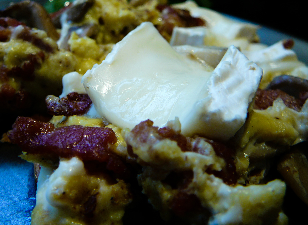 Stuffing your talkative guest's mouth is a Brie-liant move!