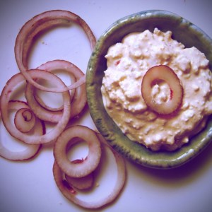 Hungarian curd cheese spread