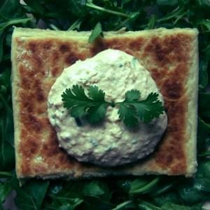Salmon and horseradish paté
