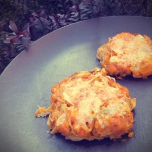 Sweet potato and cabbage cakes