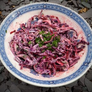 Spiced beetroot and red cabbage slaw