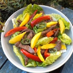 Jamaican steak salad