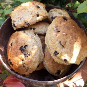 Orange & raisin scones