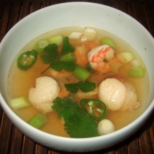 Seafood soup Southeast Asian style