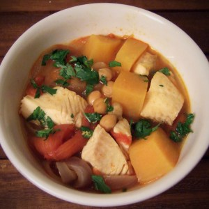 Spanish fish stew with sweet potatoes