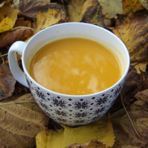 Spiced squash and apple soup with cider