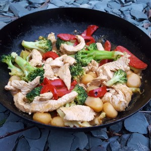 Turkey breast stir-fry