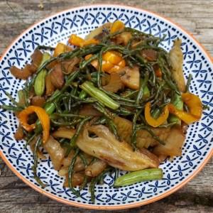 Samphire & fennel stir fry