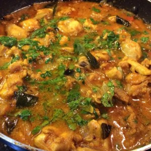 Spicy Kerala chicken curry
