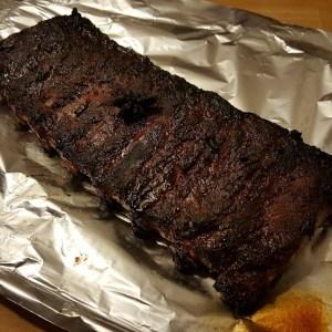 Festive pork ribs