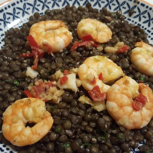 Asian Prawn and Lentils