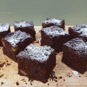 Gluten-free chestnut puree brownies