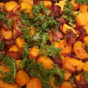 Squash and bacon bake