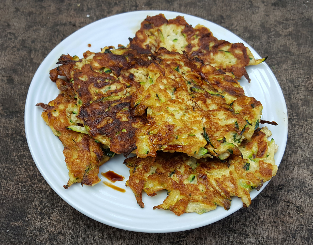Tofu and Courgette Fritters