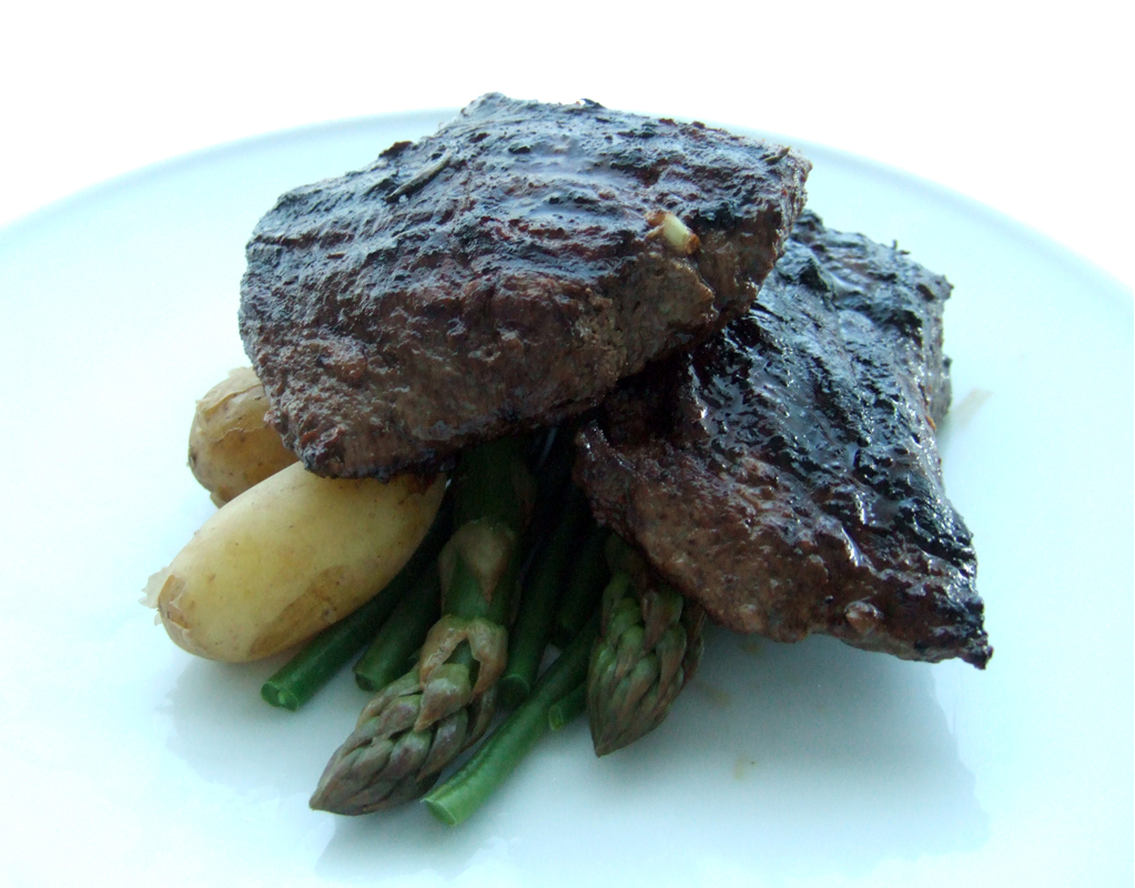 Zesty grilled venison steak