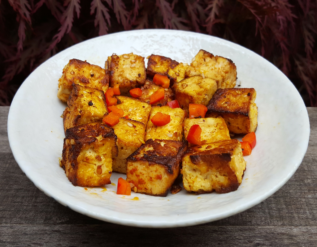 Miso fried tofu