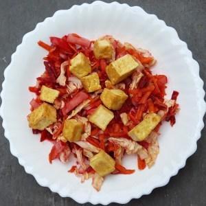 Crunchy slaw with tofu