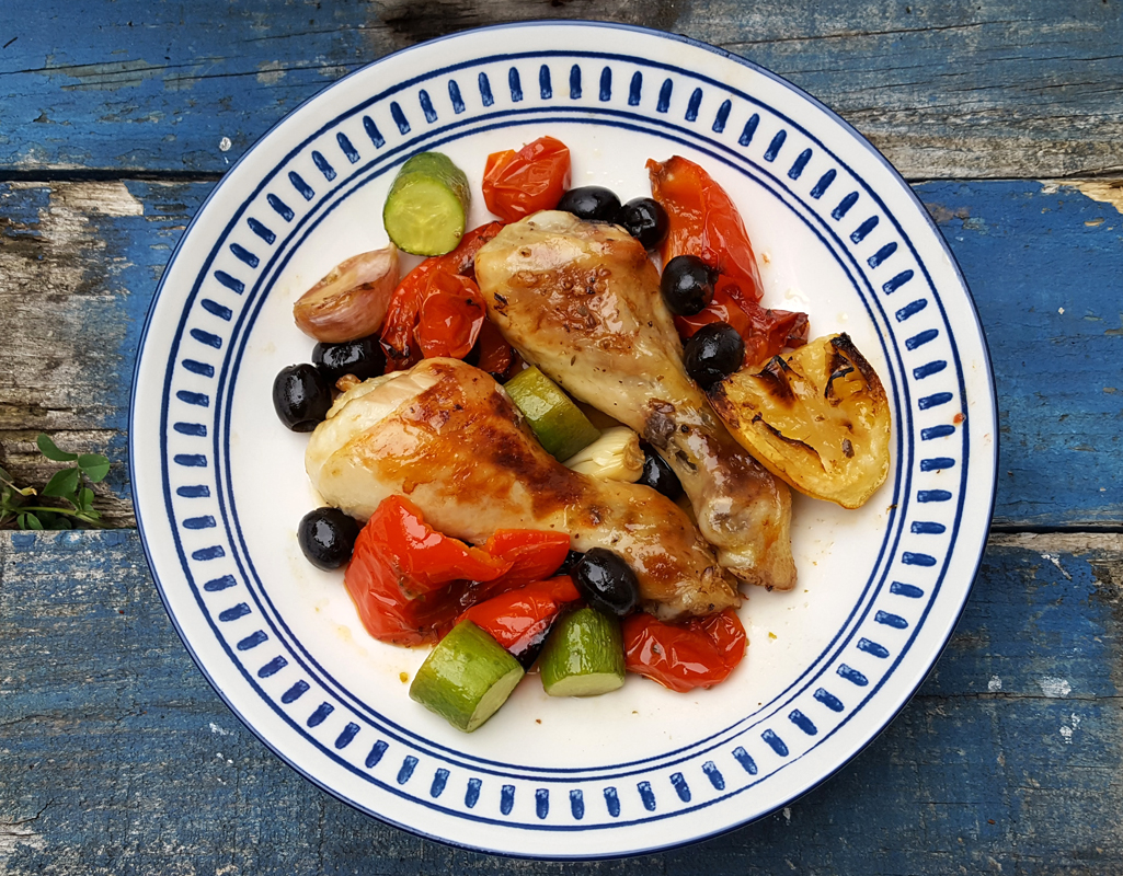 Greek-style chicken bake