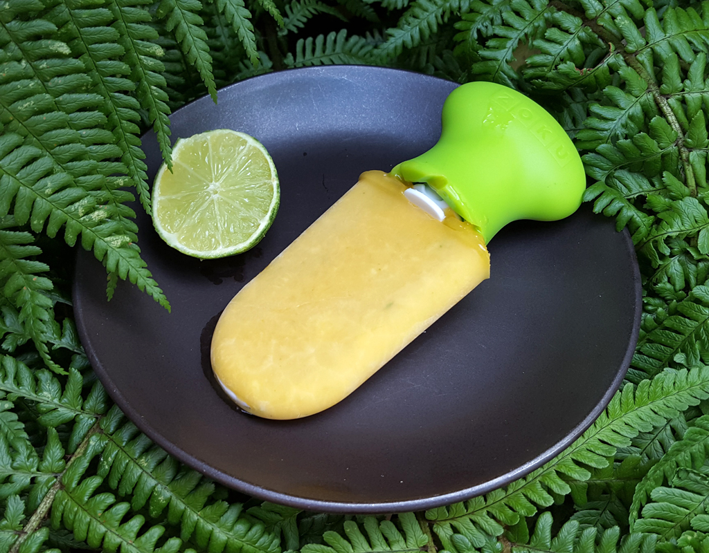 Mango and lime ice lolly