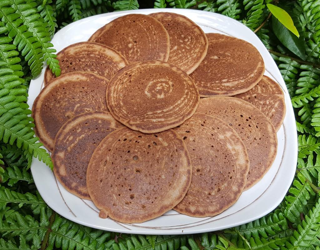 Orange and almond pancakes