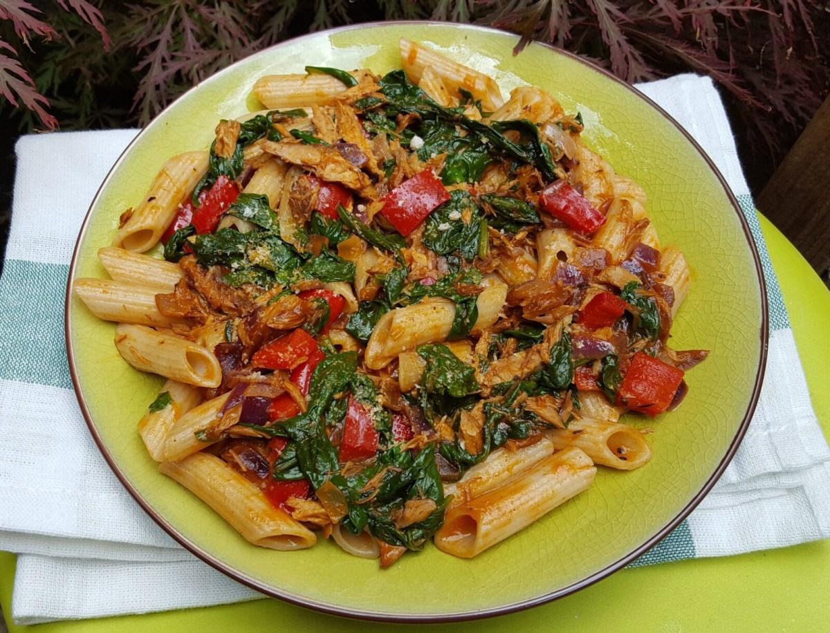 Spicy Mackerel Pasta Cooktogether