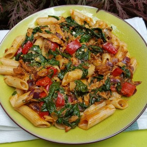 Spicy Mackerel pasta