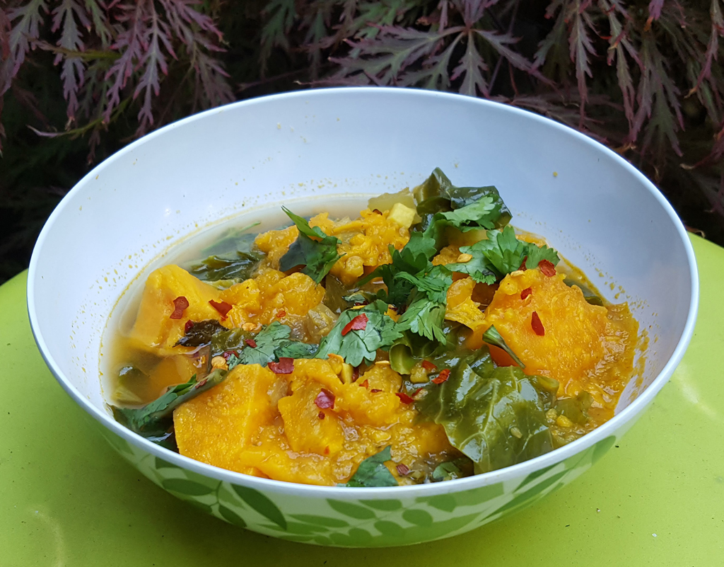 Sweet potato and cabbage stew