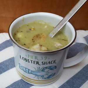 Dairy-free seafood and vegetable chowder