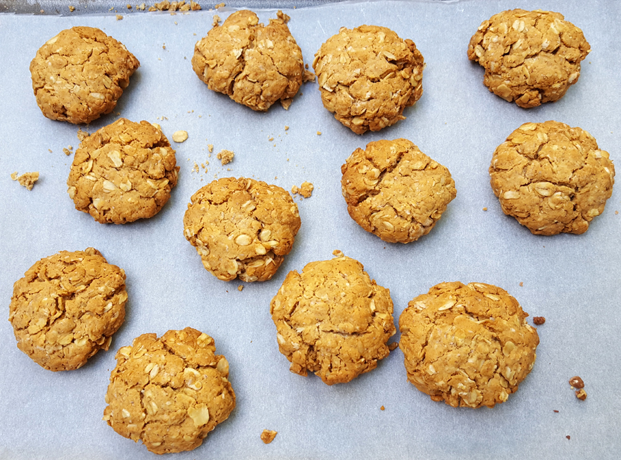 Oat and ginger cookies
