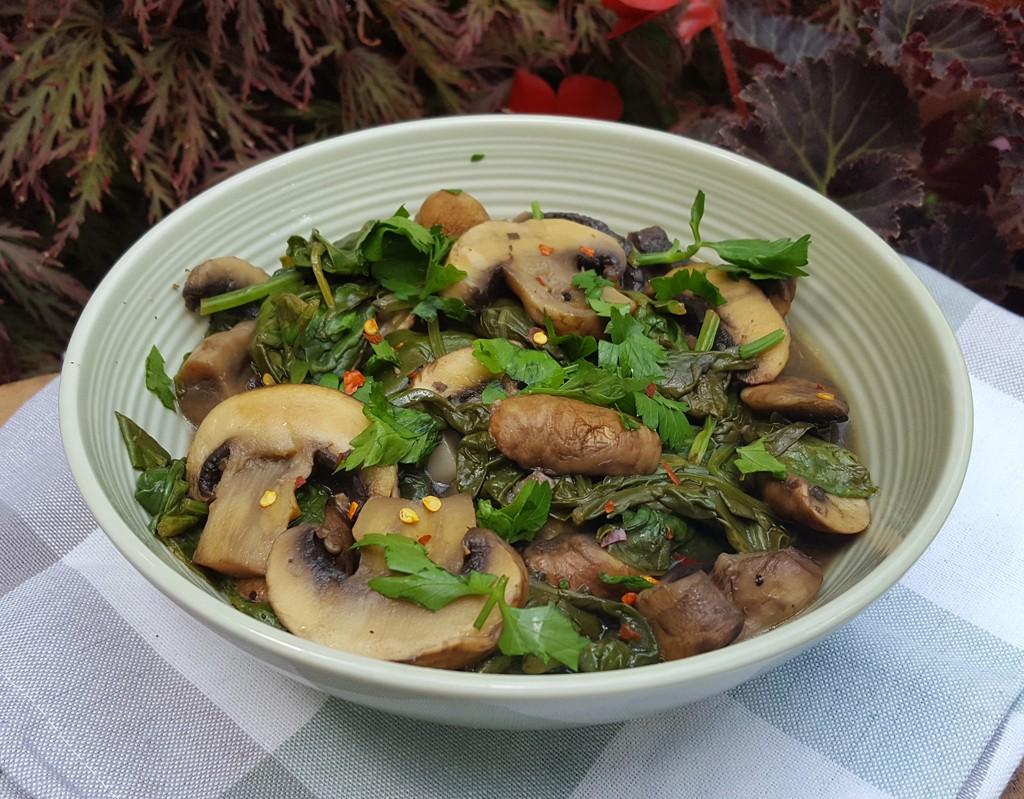 Sautéed mushroom & spinach