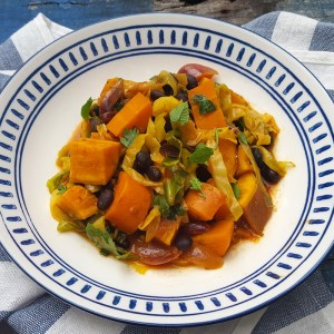 Sweet potato and black beans stew