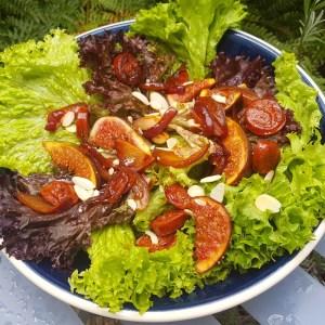 Chorizo and fig salad