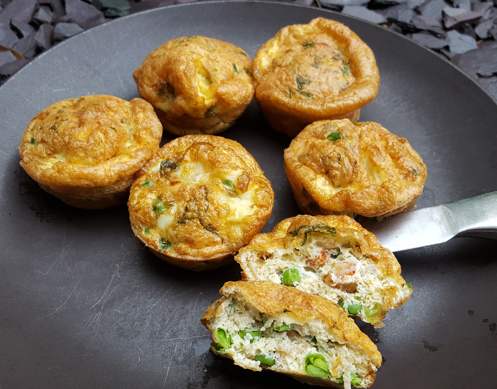 Crayfish egg muffins