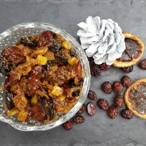 Cherry and cranberry mincemeat