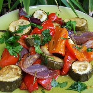 Rosemary & garlic roasted vegetables