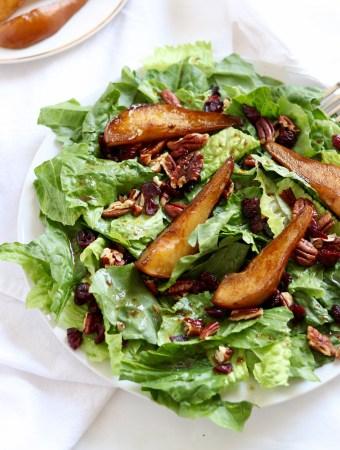 Sweet Pear Balsamic Salad