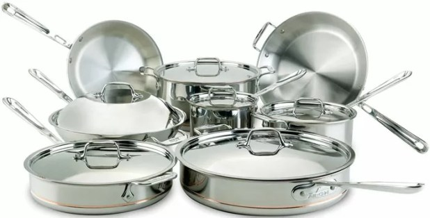 All-Clad Copper Core 5-Ply Stainless Steel Cookware Set