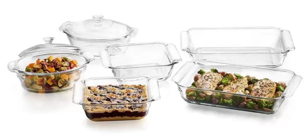 Libbey Baker's Basics Covered Casserole 6-Piece Set