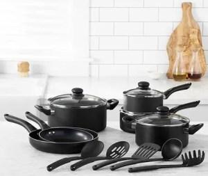 AmazonBasics Nonstick Cookware Set