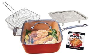 BulbHead 11198 Red Copper Square Pan Set