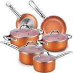 CUSINAID 10-Piece Aluminum Cookware Sets