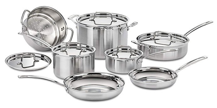 Cuisinart MCP-12N Multiclad Pro - Stainless Steel Cookware
