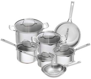Emeril Lagasse 14 Piece Stainless Steel Cookware Set
