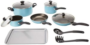 Farberware Dishwasher Safe Nonstick 15-Piece Cookware Set