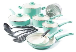 GreenLife Soft Grip Dishwasher Safe Ceramic Cookware