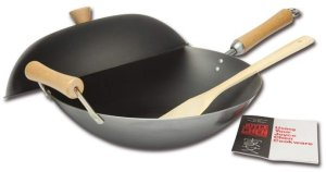 Joyce Chen 21-9972, Carbon Steel Wok with Lid
